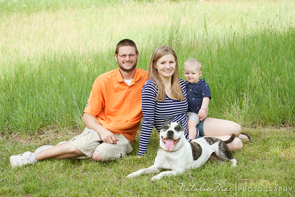 Family portrait taken at Island Lake by Ann Arbor family photographer, Natalie Mae Photography