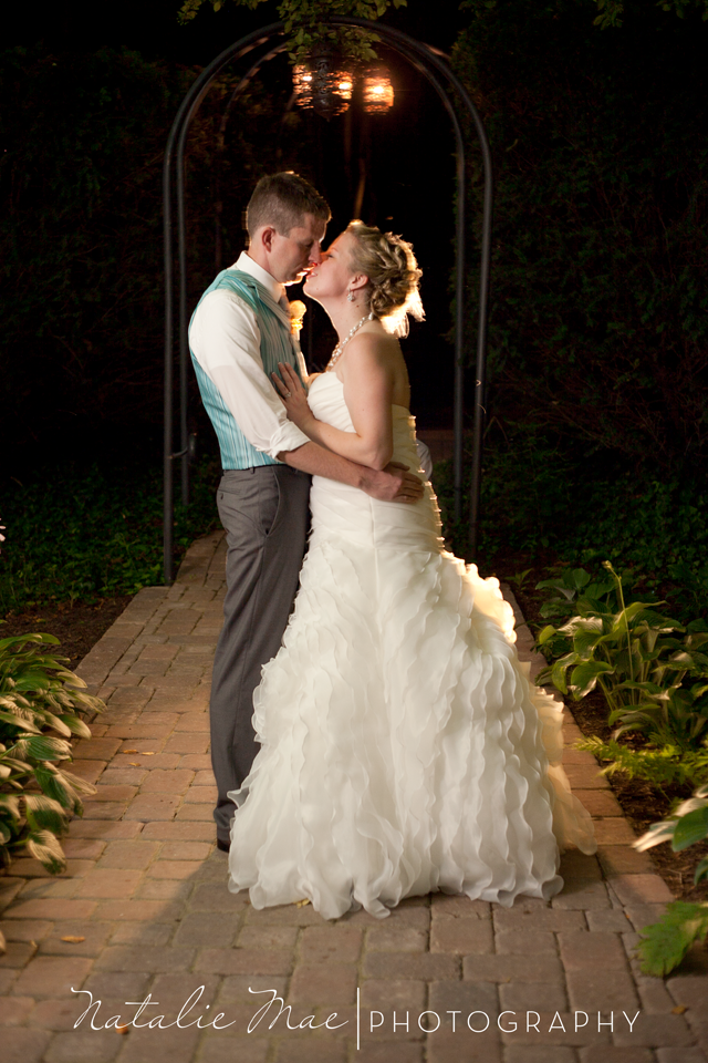 A gorgeous night image from Ann Arbor wedding photographer, Natalie Mae.