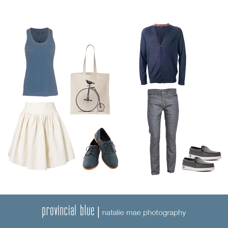 ProvincialBlue is classy and upscale, but can be played down with a great pair of jeans.