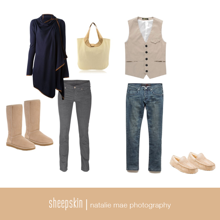 Sheepskin can be paired with almost any color and act as a great base color.